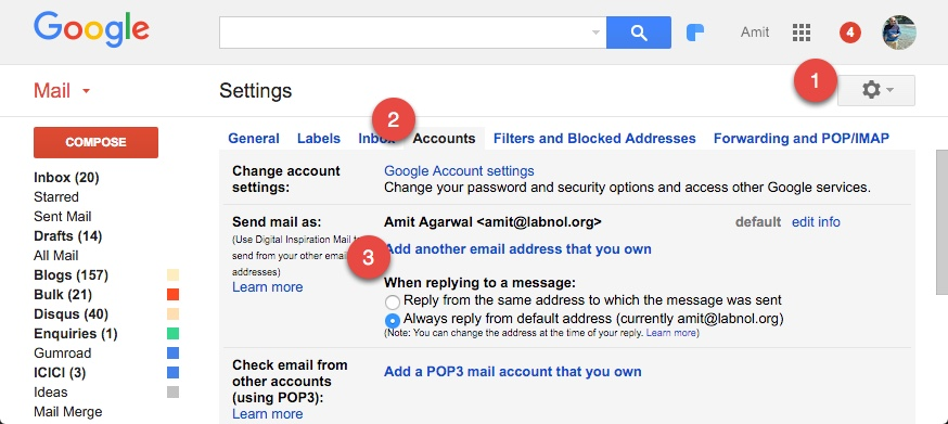 how to send an email to google drive