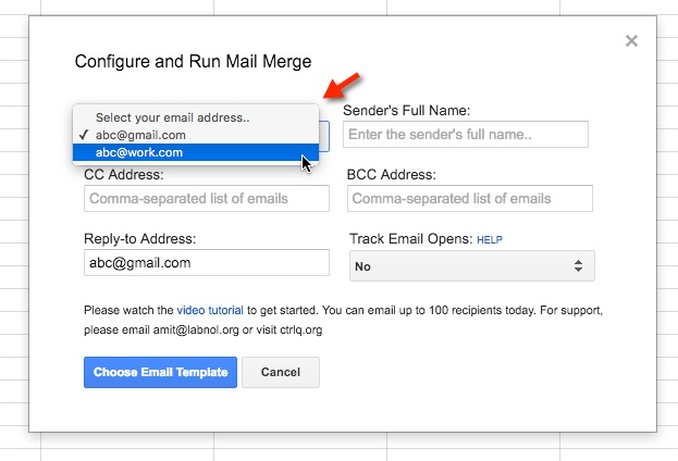 how to send from and receive on different emails