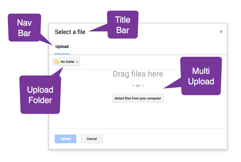 Google file picker api with google drive working example the file upload forms for google drive is written in google apps script and it lets users upload files to the form owners folder through the file picker ccuart Images