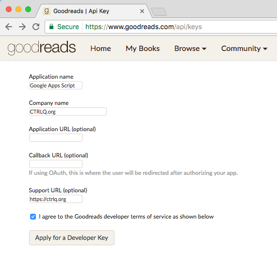 Search Books with Goodreads API and Google Apps Script